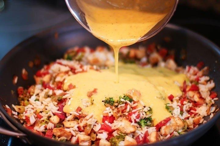Фото к рецепту: Рис с брокколи и курицей