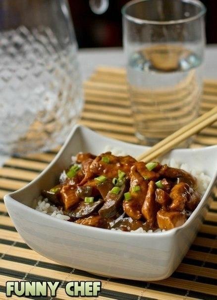 Фото к рецепту: Курица с баклажанами «По-китайски»