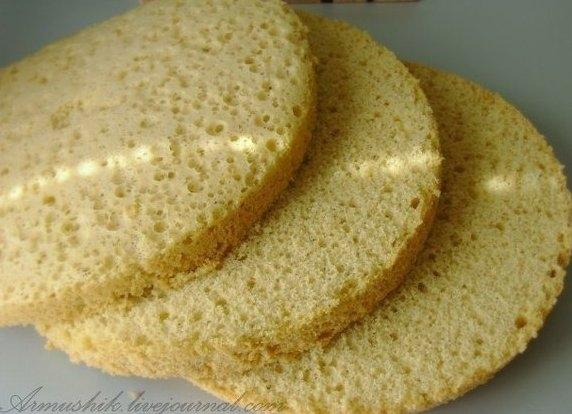 бисквит без духовки рецепт с фото