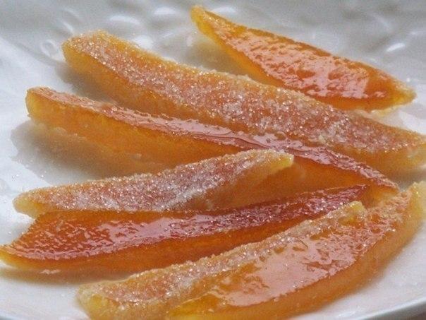 Фото к рецепту: Цукаты из апельсиновых корочек