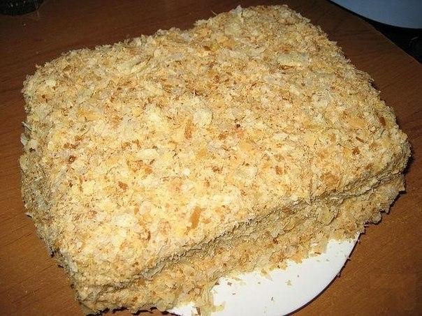 Фото к рецепту: Самый быстрый и вкусный рецепт торта Наполеон