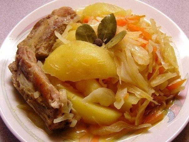 Фото к рецепту: Рагу с капустой