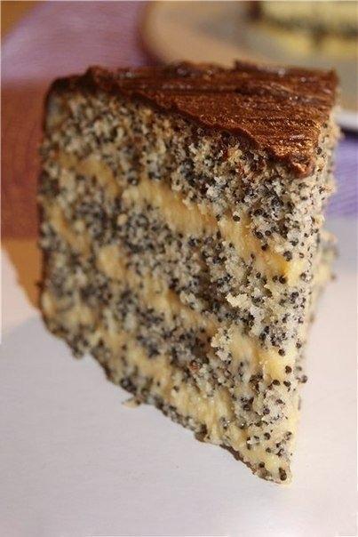Фото к рецепту: Торт Маковый