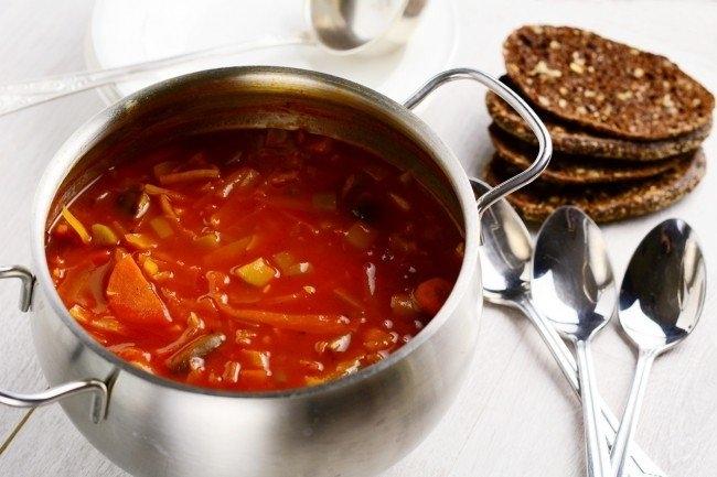 рецепты простых овощных супов для похудения