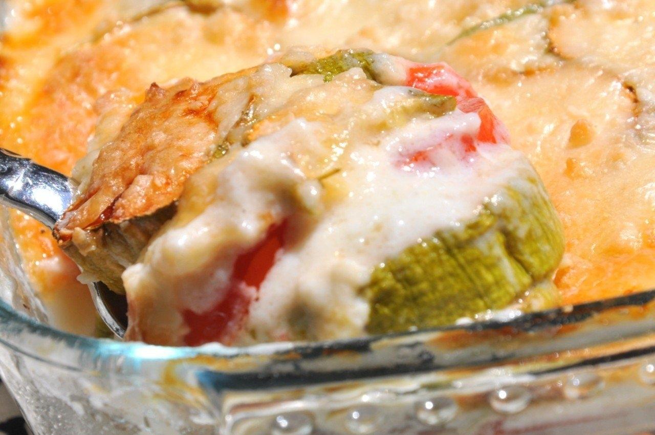 Овощи с соусом бешамель рецепт