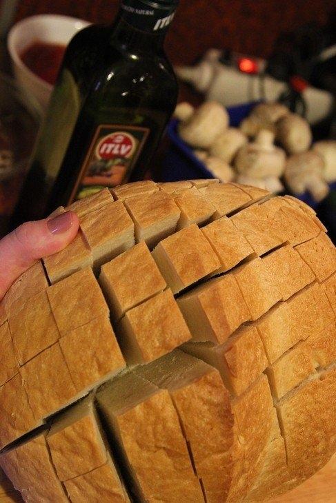 Фото к рецепту: Закусочный хлеб на скорую руку