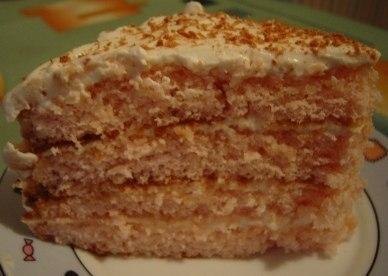 Фото к рецепту: Нежный-нежный кисельный тортик