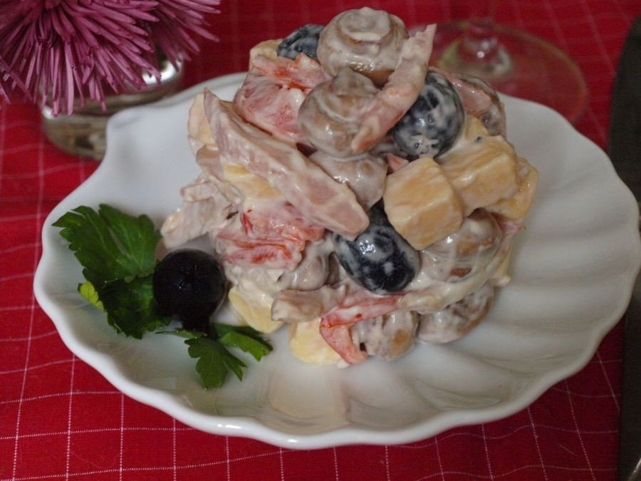 Мясные блюда к праздничному столу салаты с