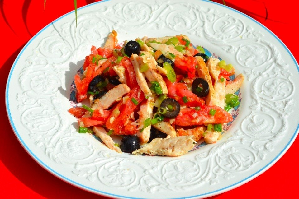 Фото к рецепту: Салат из курицы