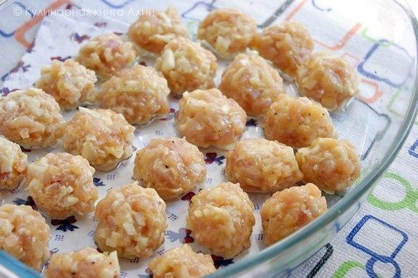 куриные шарики в соусе в духовке рецепт