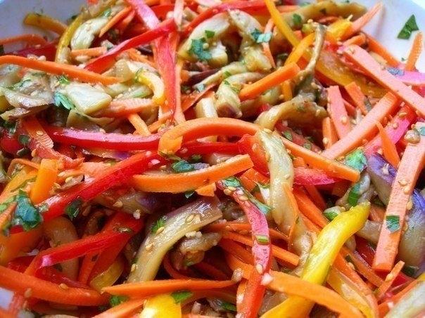 Фото к рецепту: Баклажаны по-корейски