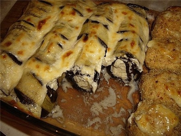 Фото к рецепту: Рулетики из баклажан.