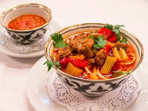 Фото к рецепту: Лагман по-узбекски