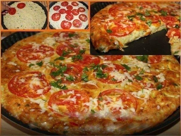 Фото к рецепту: Быстрая кабачковая пицца.