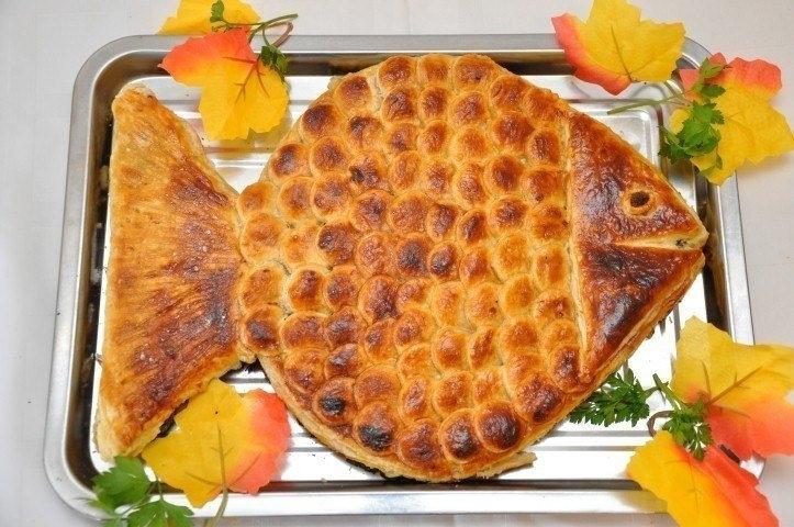 Фото к рецепту: Пирог Золотая рыбка