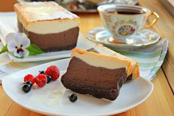 Фото к рецепту: Шоколадно-кофейный сырник