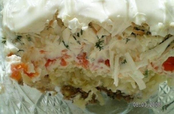 Фото к рецепту: Салат Океан