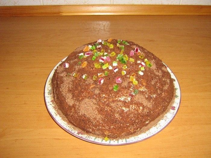Рецепт торта из сметаны и печенья рыбки