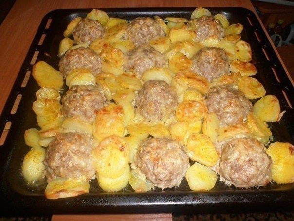 Картошка с фаршем в духовке под сыром рецепт с фото