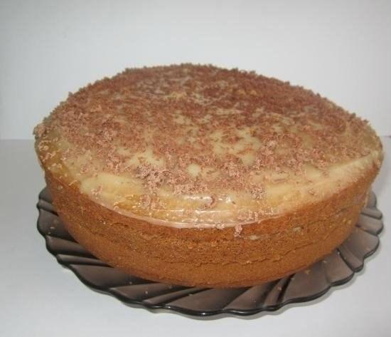 Фото к рецепту: Торт «Рыжик», приготовленный в мультиварке