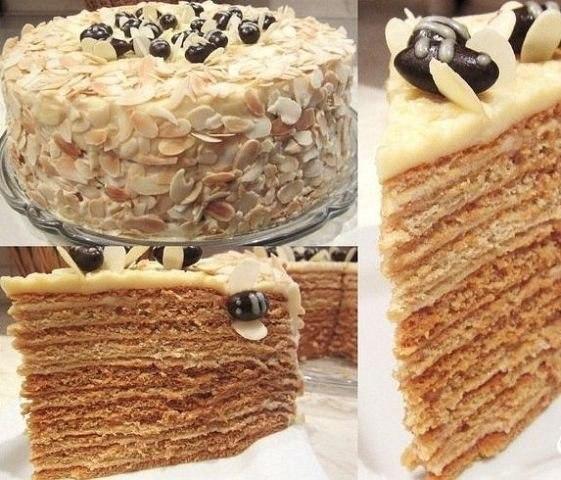 Фото к рецепту: Медовый торт Пчелкин дом