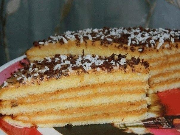 Фото к рецепту: Очень вкусный тортик