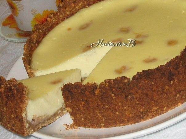 Фото к рецепту: Сливочно-банановый пирог.