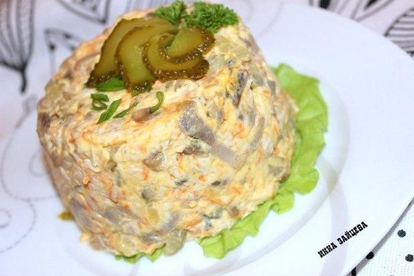 Фото к рецепту: Салат Золотое руно.