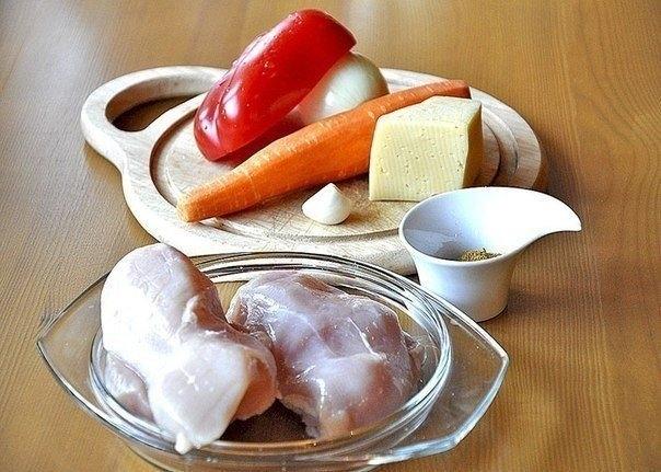 запеканка из гречки с курицей и грибами в духовке рецепт с фото пошагово