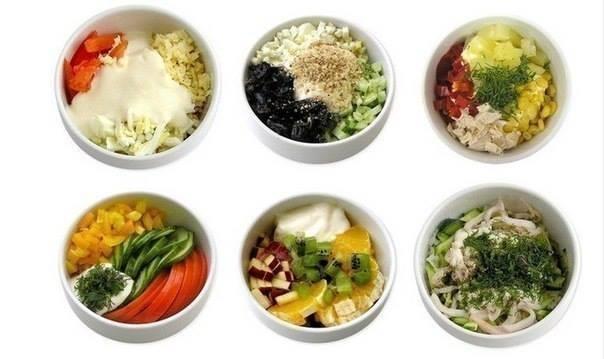 Фото к рецепту: Мини - салатики (6 самых вкусных вариантов)