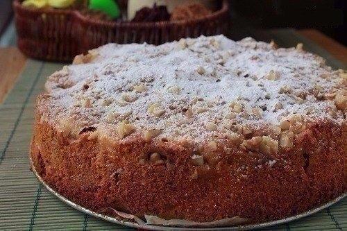 Фото к рецепту: Обалденный яблочный пирог Домашний