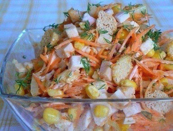 Фото к рецепту: Салат Карусель.