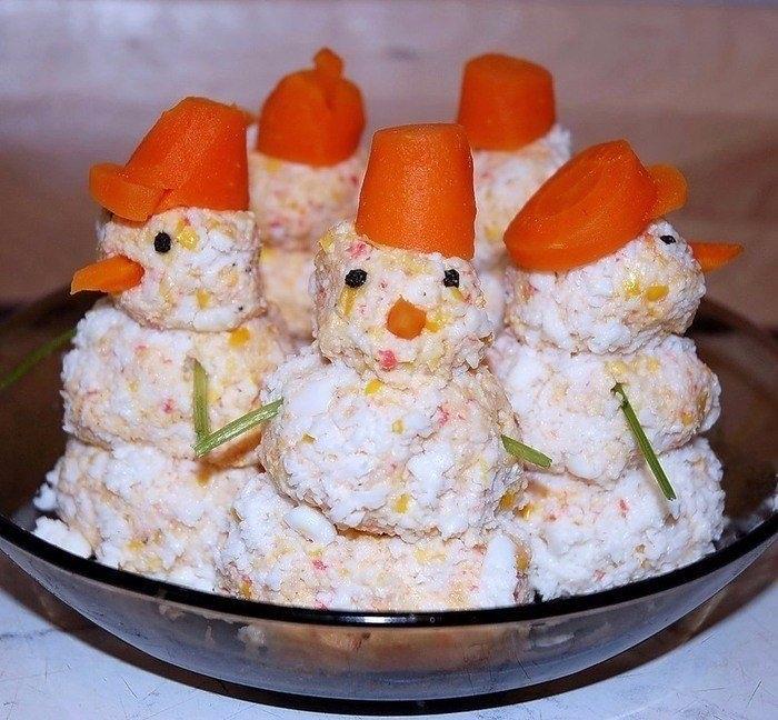 Фото к рецепту: Закуска Снеговики