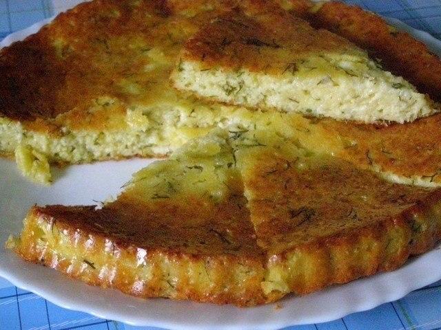 Фото к рецепту: Вкуснейший сырный пирог