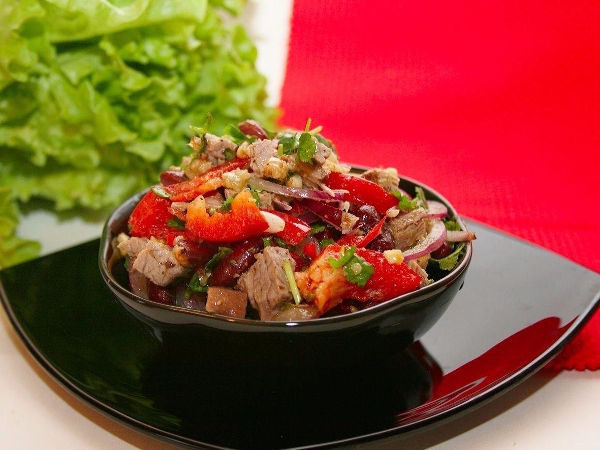 Салат с говядиной и фасолью рецепт очень вкусный