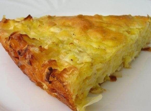 Фото к рецепту: Капустный пирог для ленивых