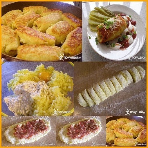 Фото к рецепту: Картофельные рулетики