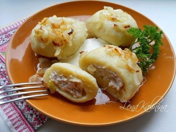 Фото к рецепту: Картофельные галушки с мясом