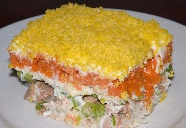 Фото к рецепту: Салат Мимоза
