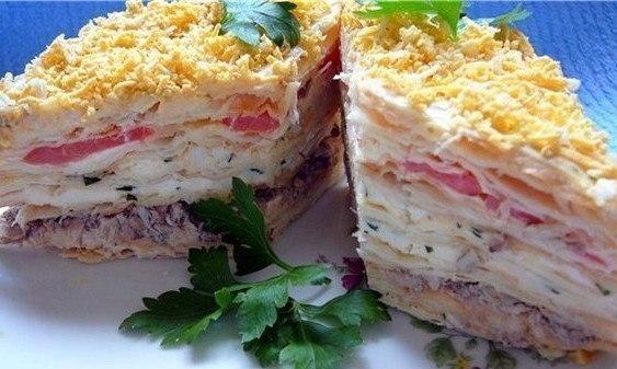 салат наполеон рецепт и фото