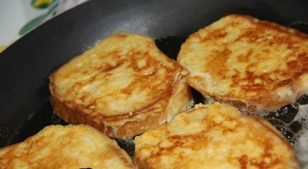 Фото к рецепту: Сырные гренки