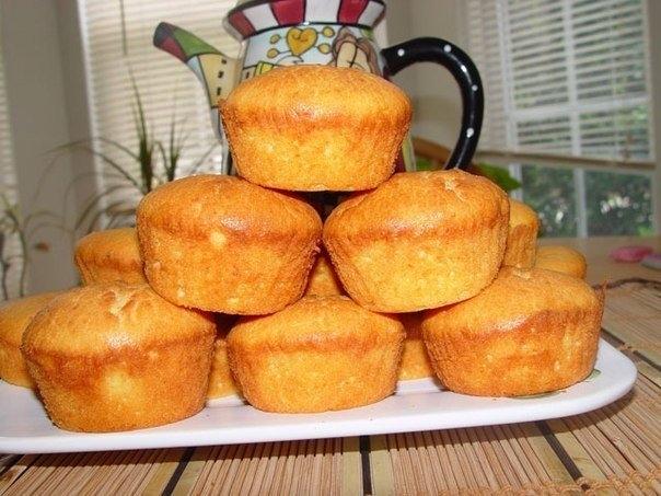 Фото к рецепту: Творожные кексы.