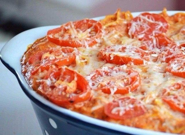 Фото к рецепту: Запеченные макароны.