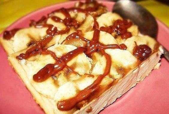 Фото к рецепту: Творожно-банановый десерт.