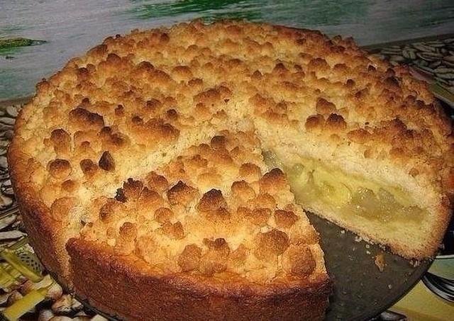 Фото к рецепту: Очень яблочный пирог царский