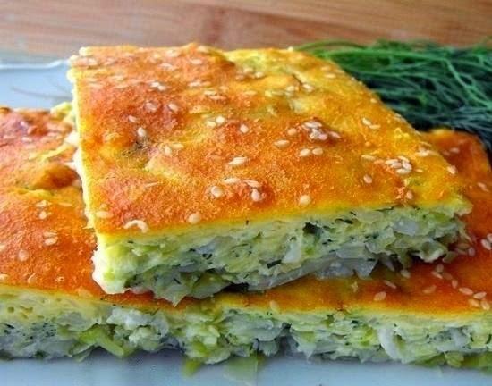 Фото к рецепту: Капустный пирог на кефире