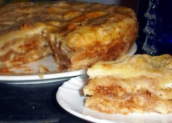 Фото к рецепту: Самый ленивый яблочный пирог