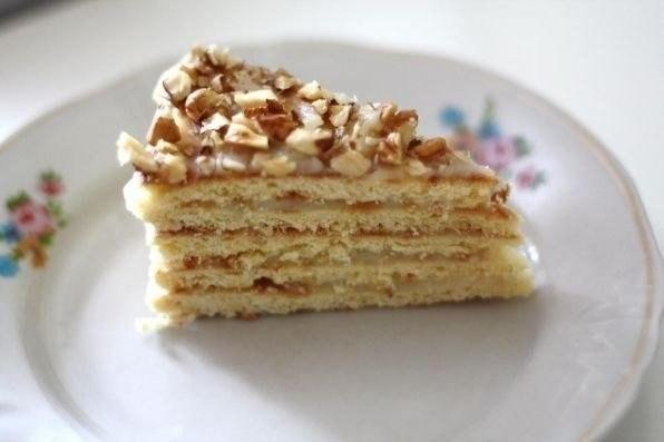 Фото к рецепту: Торт на сковороде за полчаса