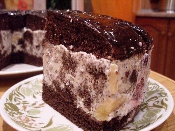 Фото к рецепту: Торт африканская ромашка.