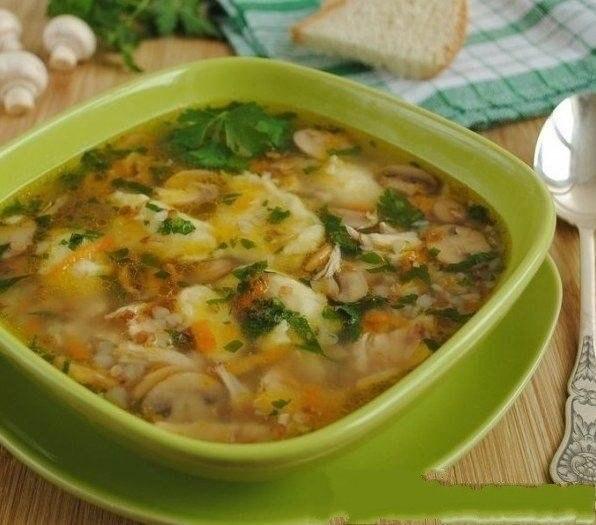 гречневый суп рецепт с клецками